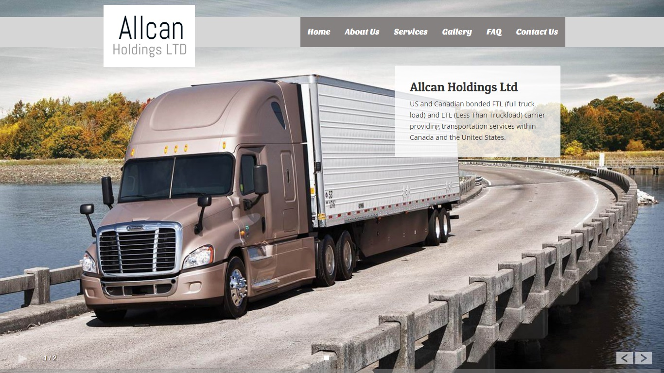 website for trucking company in abbotsford