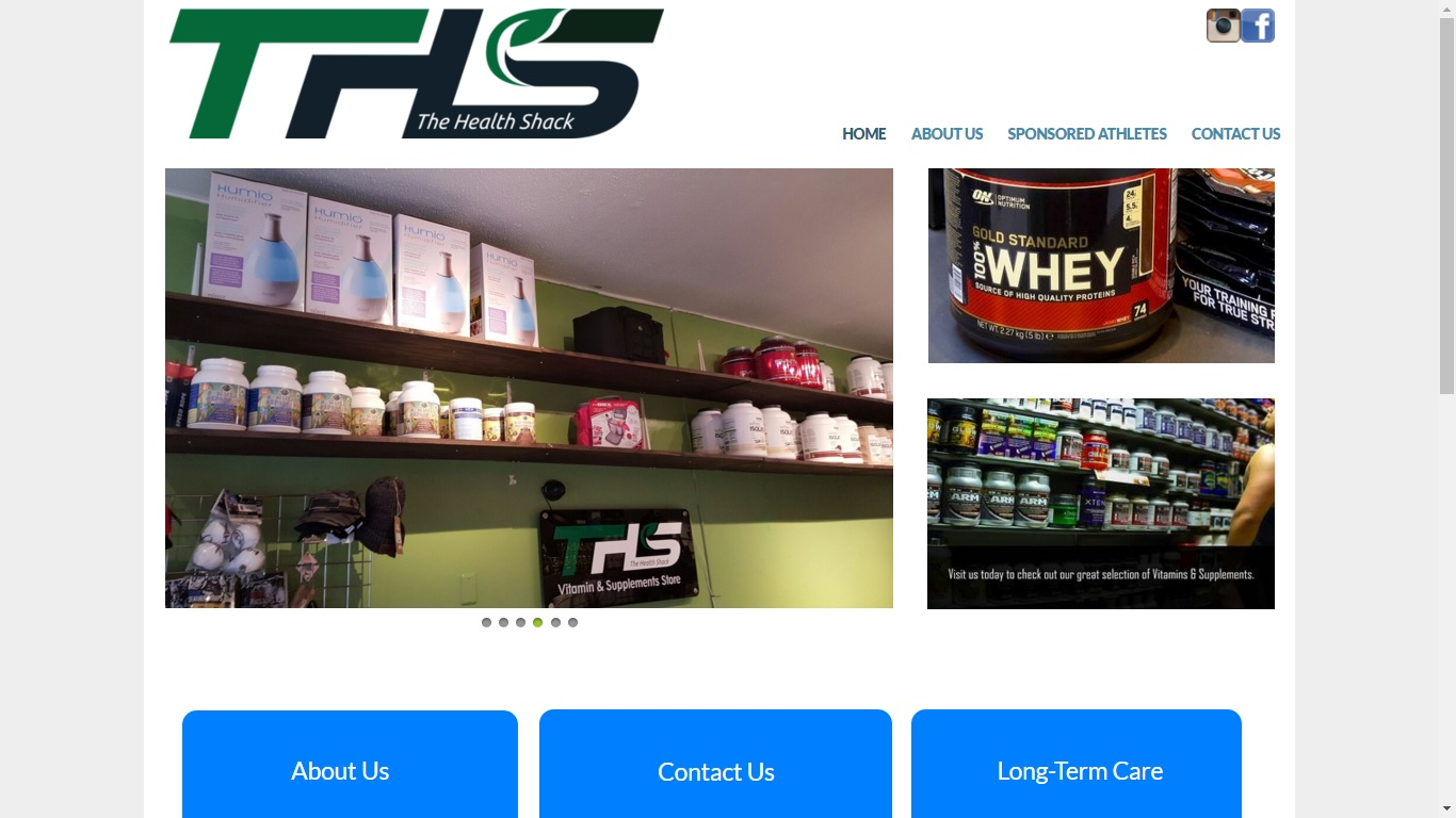 health store website