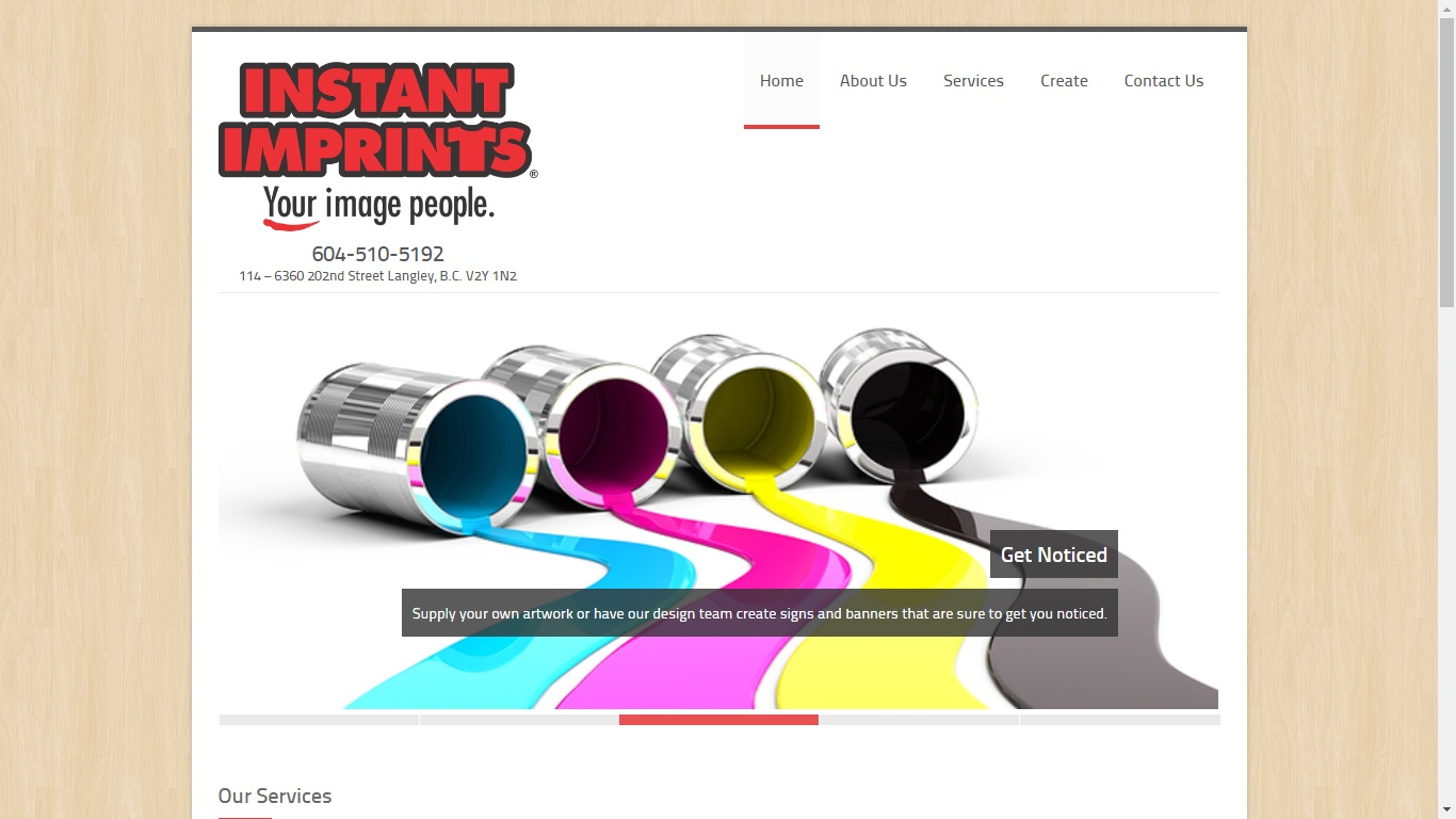 Website for printing services