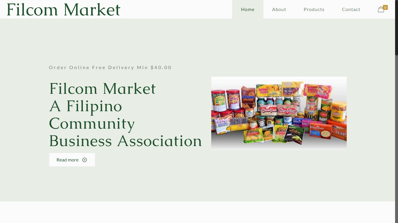 Website for filipino grocery store