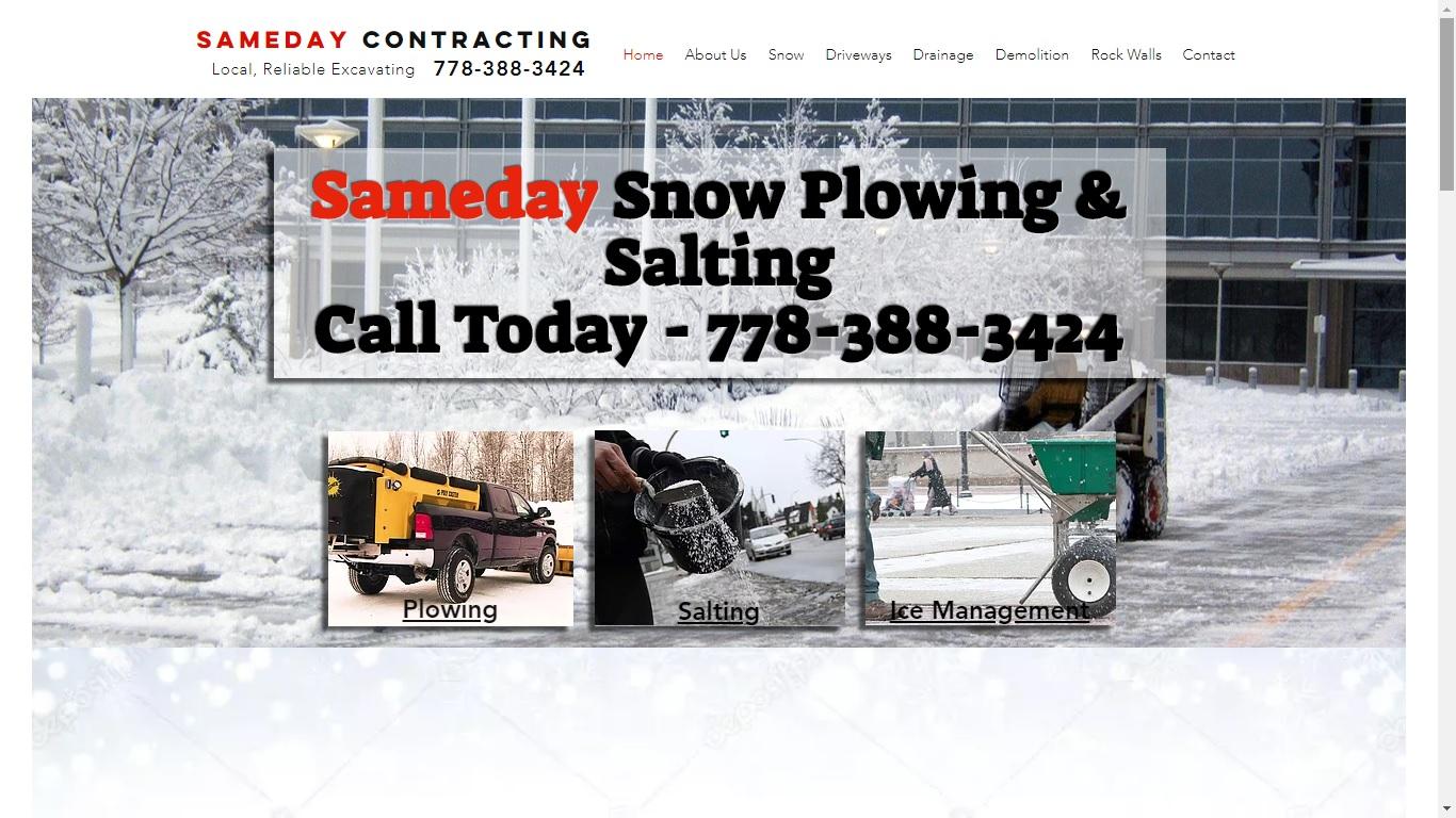 snow removal website designer in langley