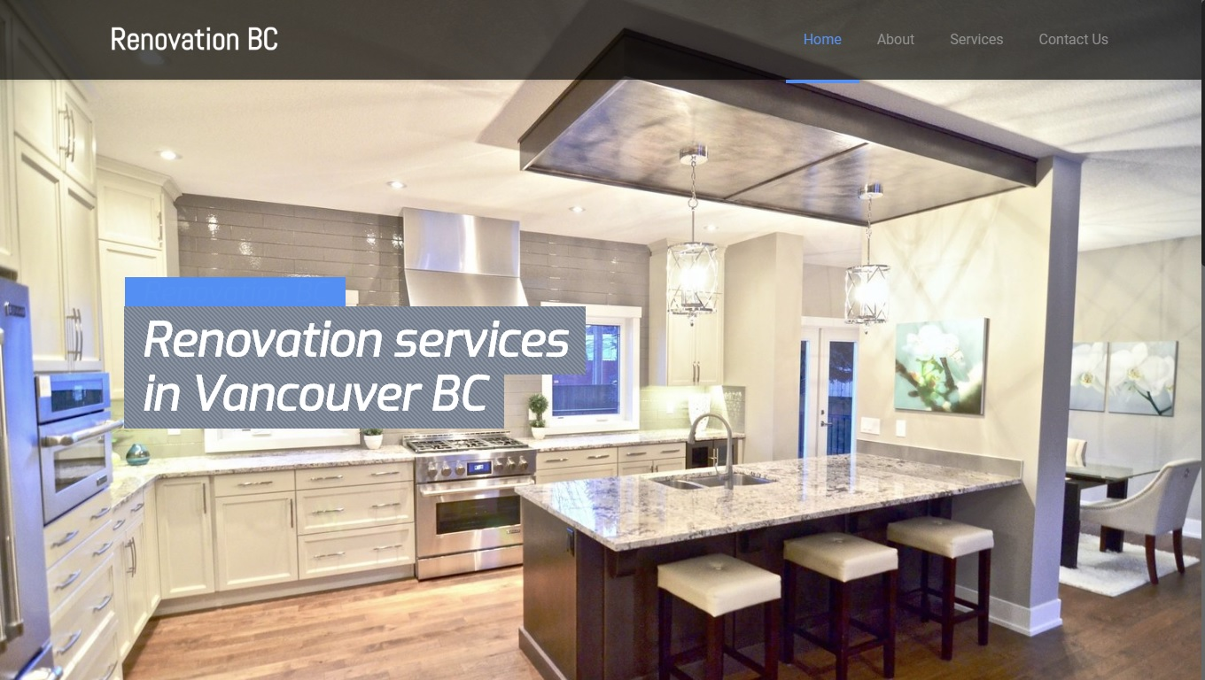 website renovation company bc