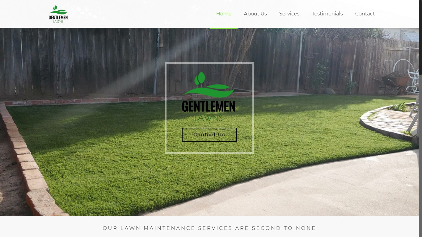 website for landscaping company