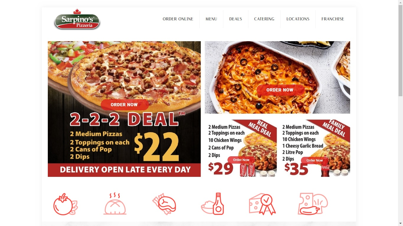 sarpinos pizza website