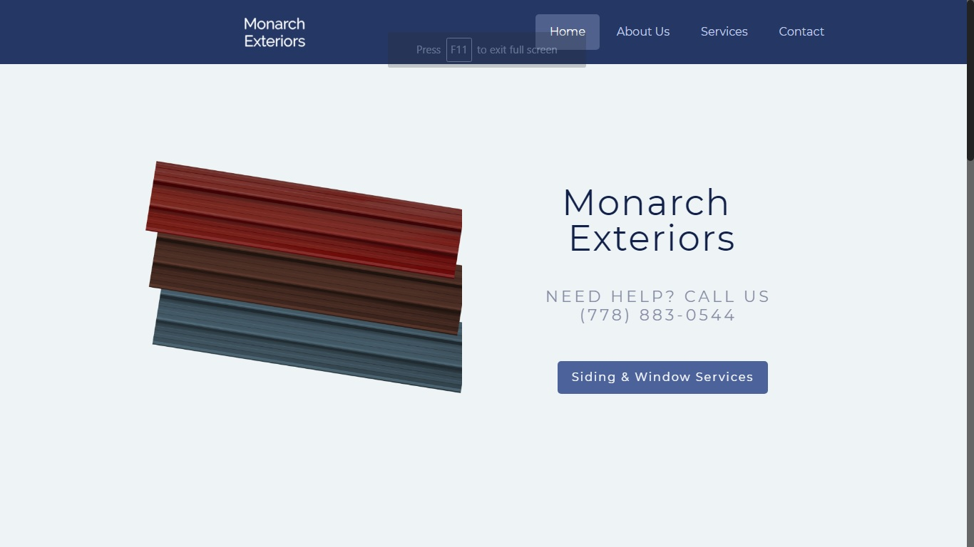 website for exterior siding company