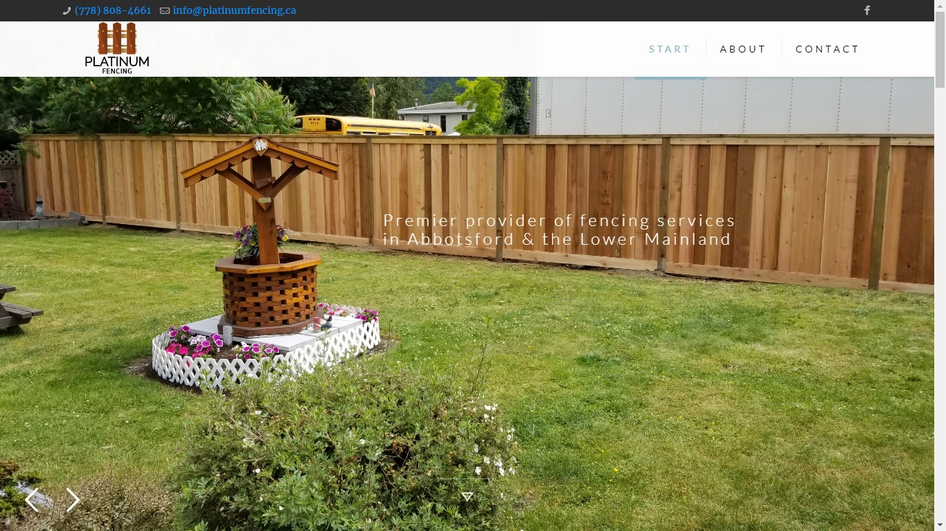 website for fencing company