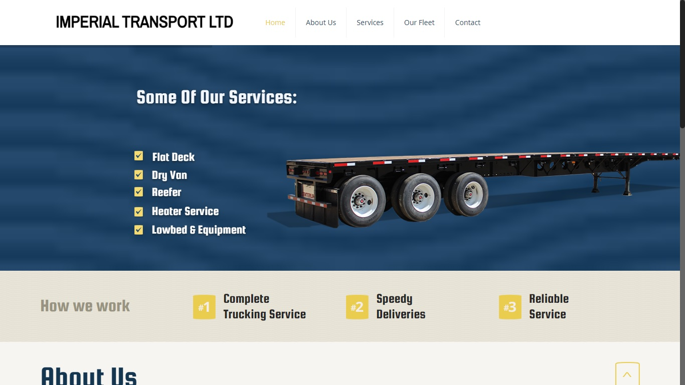 website for trucking company in BC