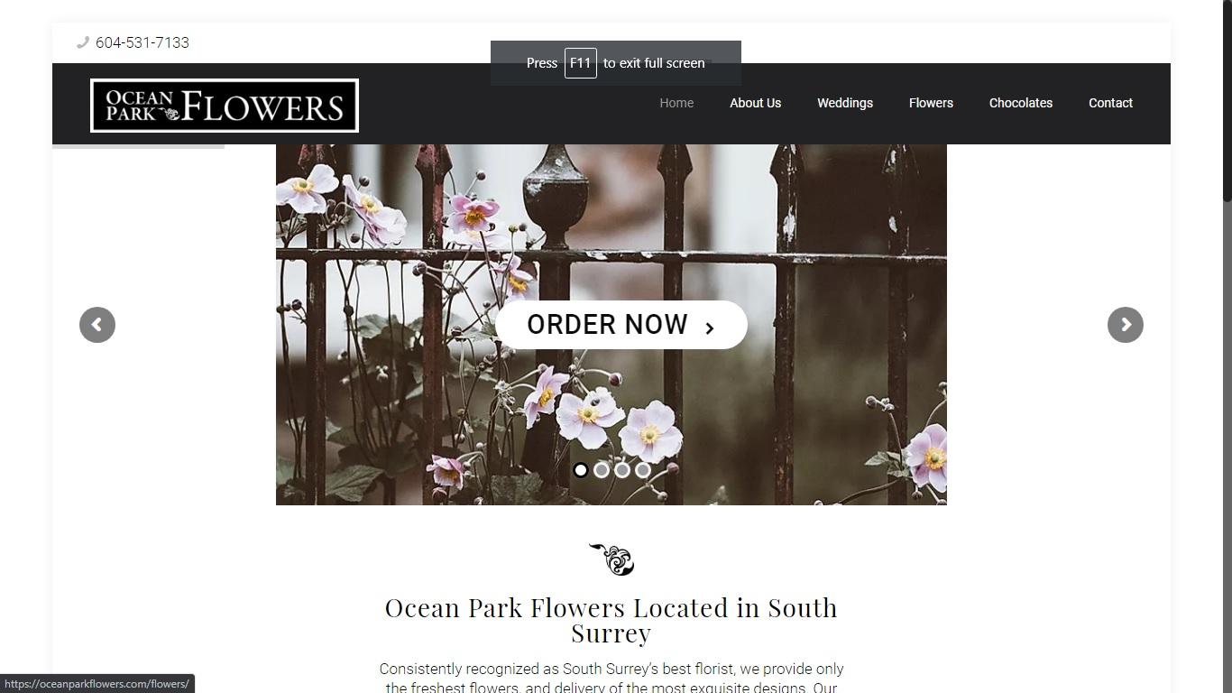 Ocean Park Flowers Shop in white rock south surrey