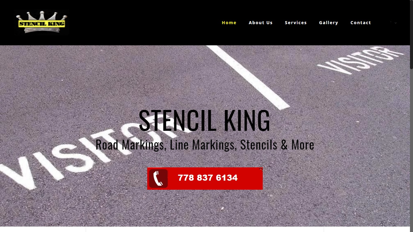 stencil king road markings line markings vancouver website