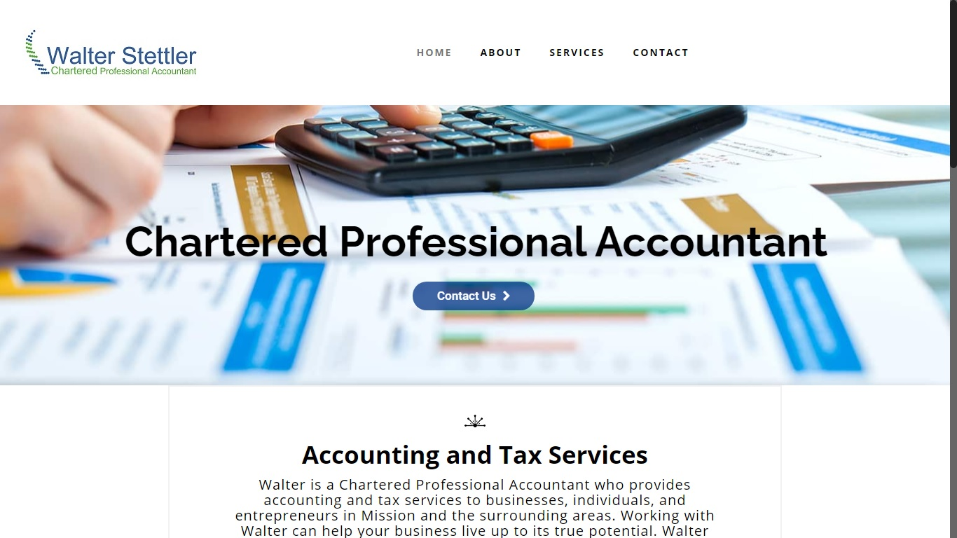 walter taxes website mission code website design