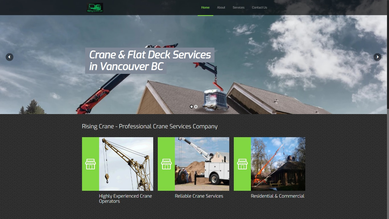 rising crane services vancouver abbotsford website